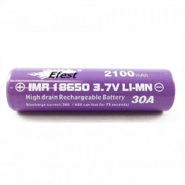 Efest Purple 18650 High Discharge Rate Battery 2100mAh BUTTON Top