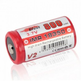 Efest IMR 18350 800mAh Battery BUTTON Top