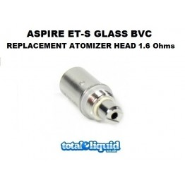 Aspire ET-S Glass BVC Replacement Atomizer Head 1.6 Ohms (Also fits K1)