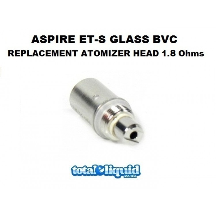 Aspire ET-S Glass BVC Replacement Atomizer Head 1.8 Ohms (Also fits K1)