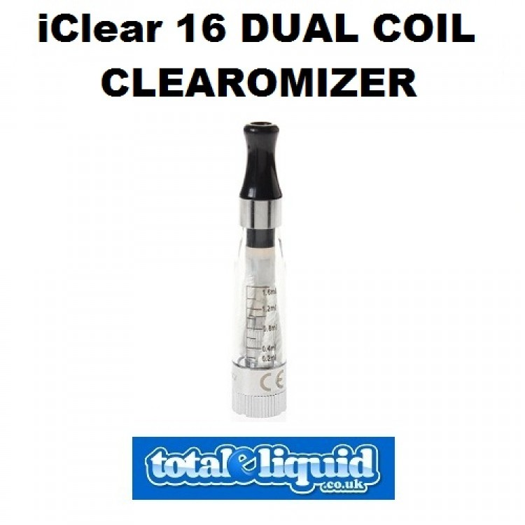 iClear 16 Dual Coil Clearomizer 2.1 Ohm (1.6ml)